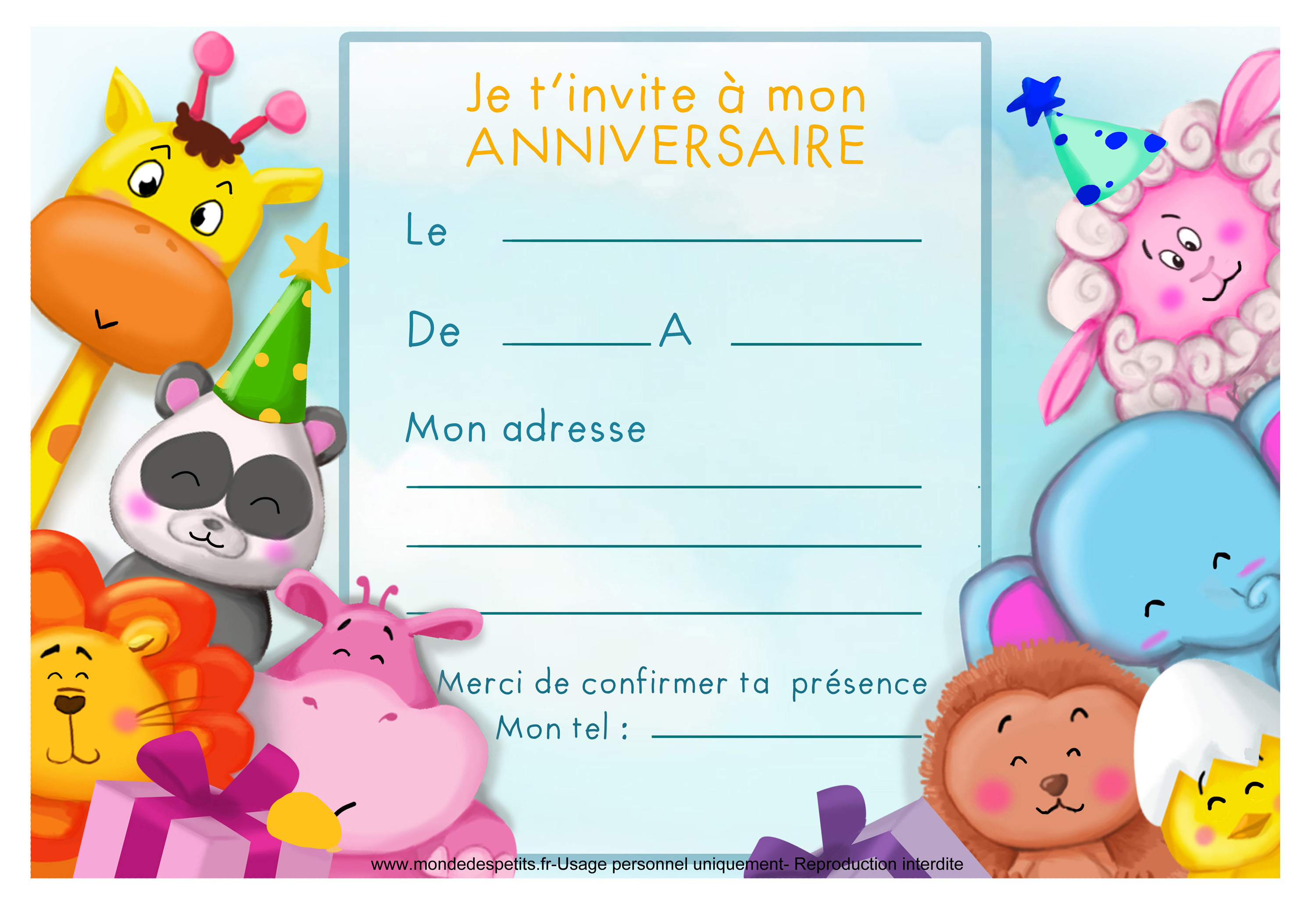 carte invitation anniversaire bebe