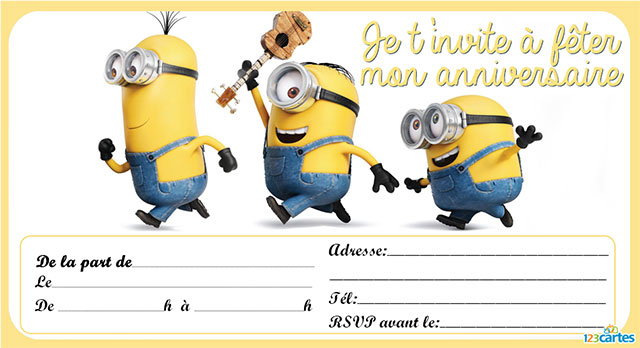 carte invitation anniversaire gar u00e7on  u00e0 imprimer abrico tel