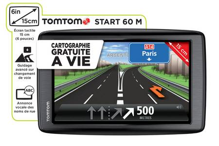 gps tomtom start 60 carte a vie